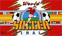 Arcade Cabinet Marquee for World Soccer Finals.