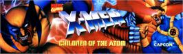 Arcade Cabinet Marquee for X-Men: Children of the Atom.