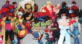 Arcade Cabinet Marquee for X-Men Vs. Street Fighter.