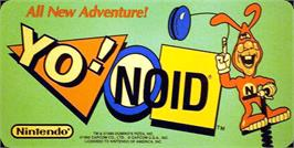 Arcade Cabinet Marquee for Yo! Noid.