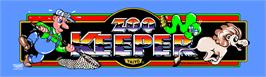 Arcade Cabinet Marquee for Zoo Keeper.