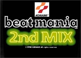 Arcade Cabinet Marquee for beatmania 2nd MIX.