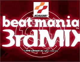 Arcade Cabinet Marquee for beatmania 3rd MIX.