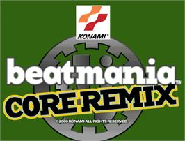 Arcade Cabinet Marquee for beatmania CORE REMIX.
