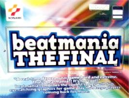 Arcade Cabinet Marquee for beatmania THE FINAL.