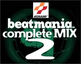 Arcade Cabinet Marquee for beatmania complete MIX 2.
