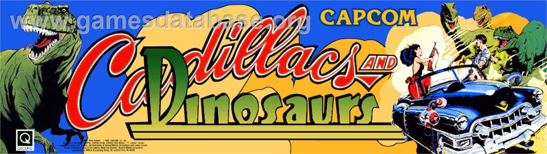 Cadillacs and Dinosaurs - Arcade - Artwork - Marquee