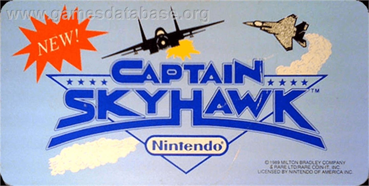 Captain Sky Hawk - Arcade - Artwork - Marquee