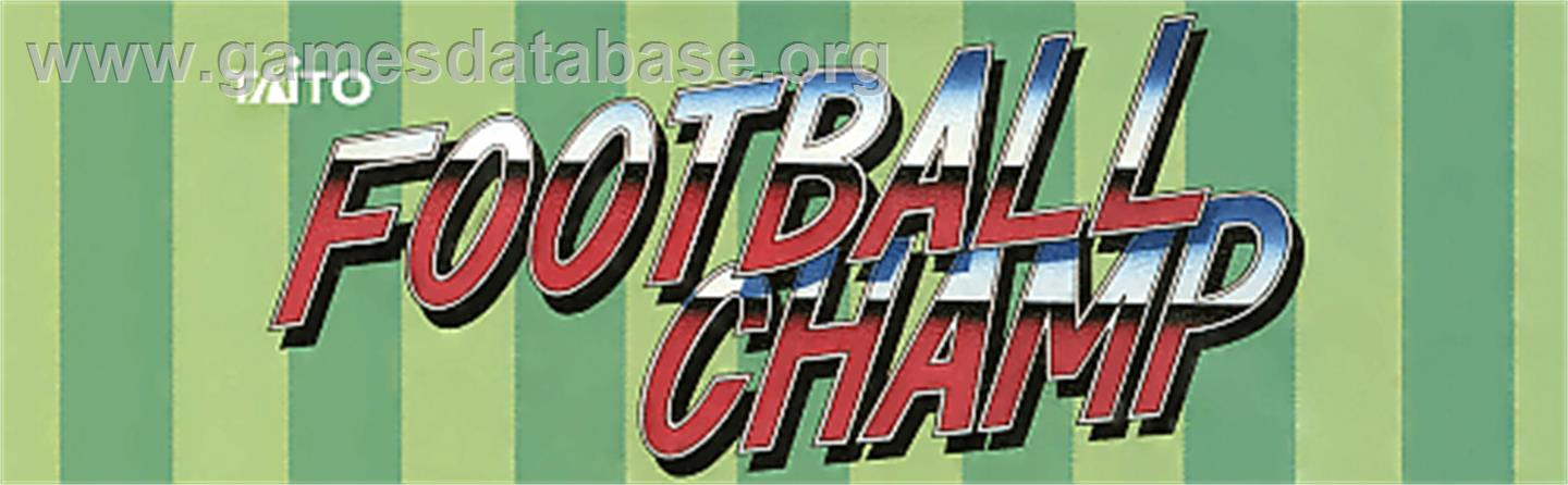 Football Champ - Arcade - Artwork - Marquee