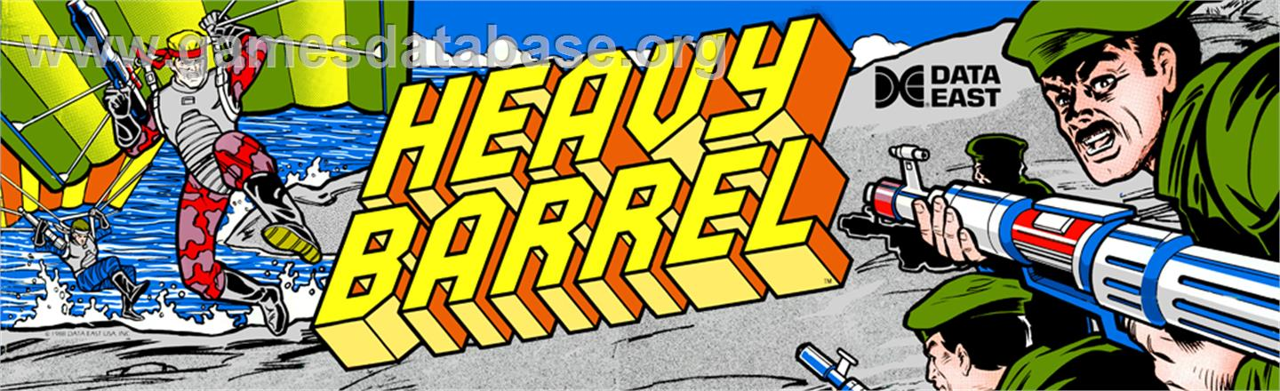 Heavy Barrel - Arcade - Artwork - Marquee