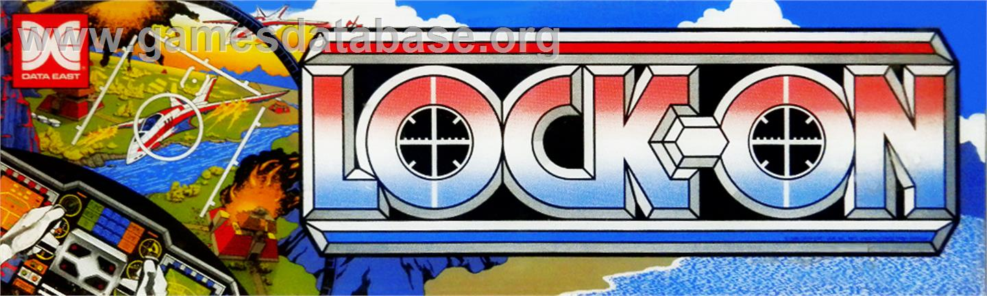 Lock-On - Arcade - Artwork - Marquee