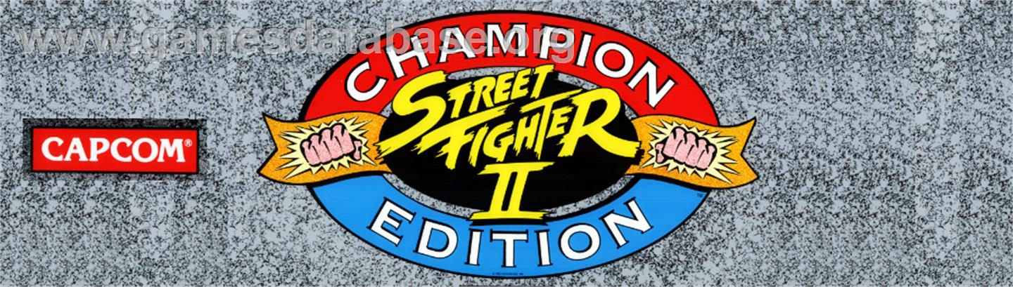 Street Fighter II': Champion Edition - Arcade - Artwork - Marquee
