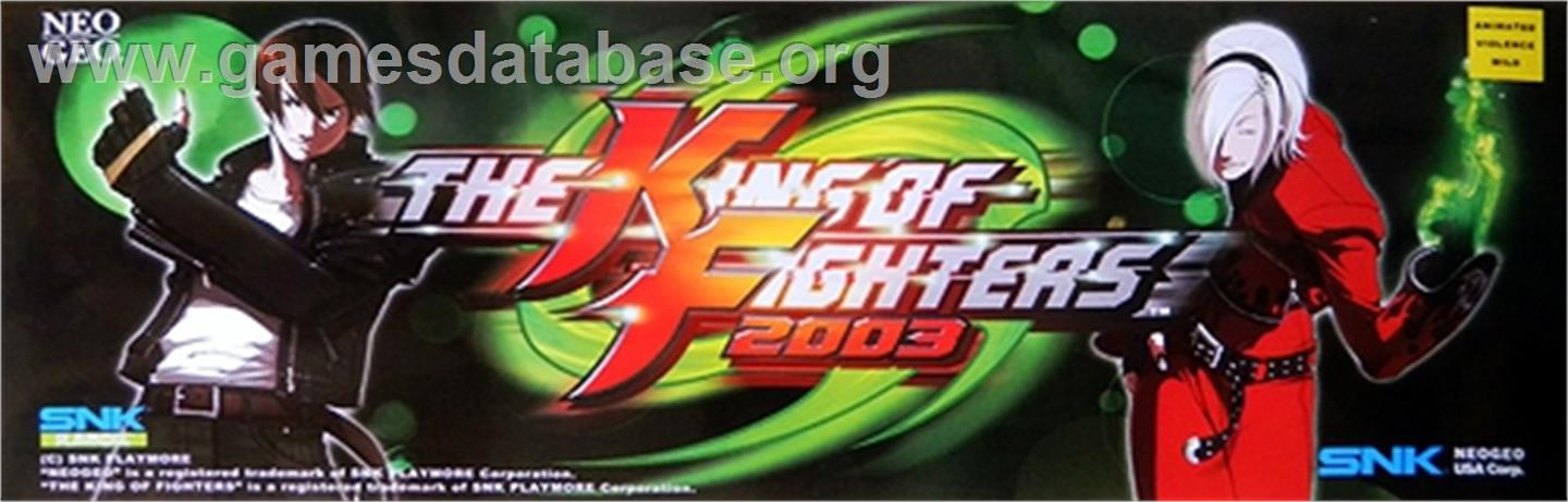 The King of Fighters 2003 - Arcade - Artwork - Marquee