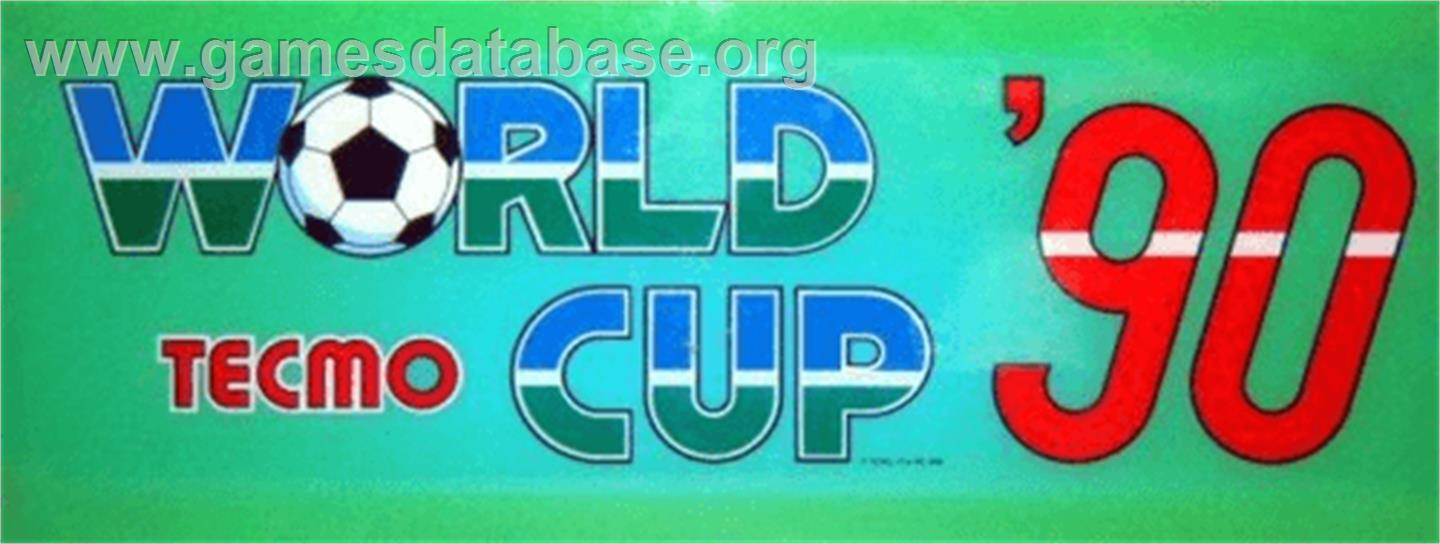 Worldcup '90 - Arcade - Artwork - Marquee