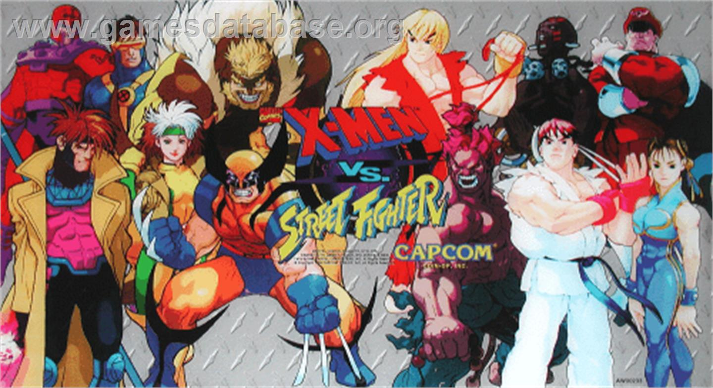X-Men Vs. Street Fighter - Arcade - Artwork - Marquee