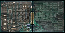 Printed Circuit Board for Double Dragon 3 - The Rosetta Stone.