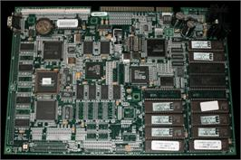 Printed Circuit Board for Mortal Kombat 4.