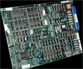 Printed Circuit Board for Mortal Kombat II.