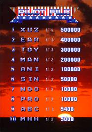 High Score Screen for 1945k III.