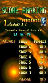 High Score Screen for 19XX: The War Against Destiny.