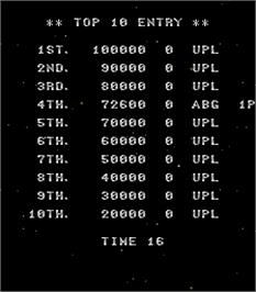 High Score Screen for Acrobat Mission.
