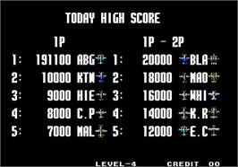 High Score Screen for Aero Fighters 3 / Sonic Wings 3.