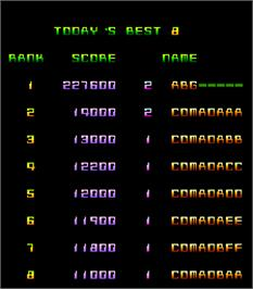 High Score Screen for Air Attack.