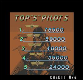 High Score Screen for Air Combat.