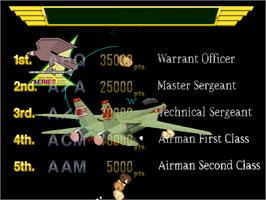 High Score Screen for Air Combat 22.