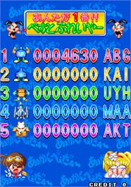 High Score Screen for Akkanbeder.