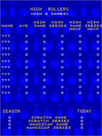 High Score Screen for Alley Master.