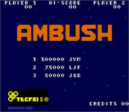 High Score Screen for Ambush.