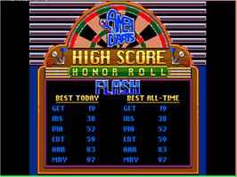 High Score Screen for AmeriDarts.