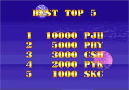 High Score Screen for Atomic Point.