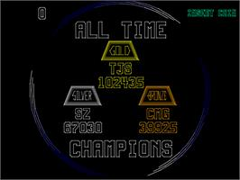 High Score Screen for Aztarac.
