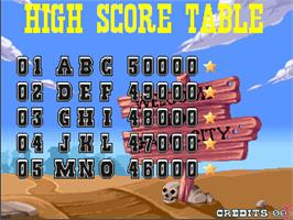 High Score Screen for Bang!.
