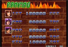 High Score Screen for Bang Bead.