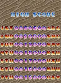 High Score Screen for Baryon - Future Assault.