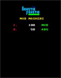 High Score Screen for Beastie Feastie.
