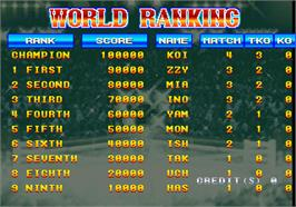 High Score Screen for Best Bout Boxing.