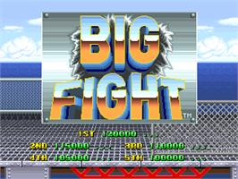 High Score Screen for Big Fight - Big Trouble In The Atlantic Ocean.