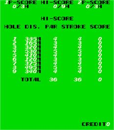 High Score Screen for Birdie King 3.
