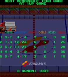 High Score Screen for Blades of Steel.