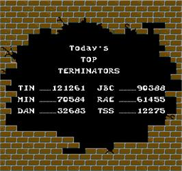 High Score Screen for Blasted.