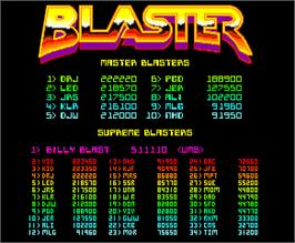 High Score Screen for Blaster.