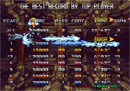 High Score Screen for Blazing Star.
