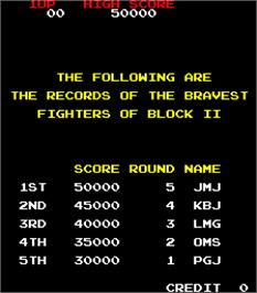 High Score Screen for Block 2.
