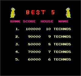 High Score Screen for Bogey Manor.