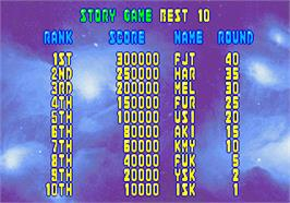 High Score Screen for Bubble Memories: The Story Of Bubble Bobble III.