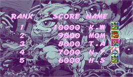 High Score Screen for Bucky O'Hare.
